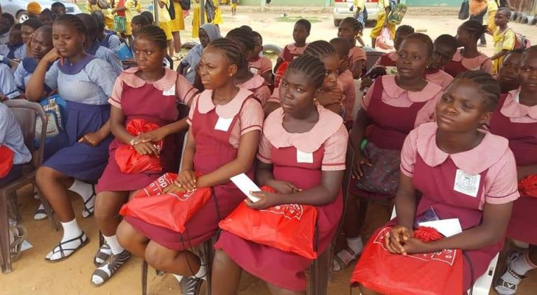 Menstrual Hygiene 2019: Young school girls go home happy as they receive sanitary packs